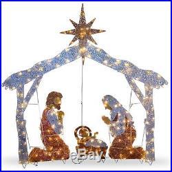 NEW HOLY FAMILY Lights Yard Decor NATIVITY SCENE Christmas Art Outdoor 72