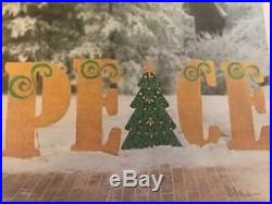 New Peace Sign Christmas Holiday Outdoor Yard Decoration