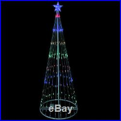 Northlight 12' Multi-Color LED Show Cone Christmas Tree Lighted Yard Decor