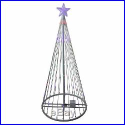 Northlight 4' Multi-Color LED Light Show Cone Christmas Tree Lighted Yard Decor