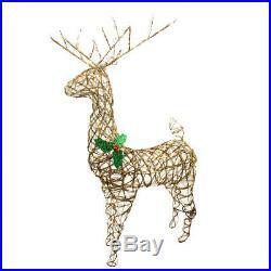 Northlight 57 Lighted Grapevine Reindeer Christmas Yard Decor Clear Lights