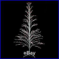 Northlight 6' White Christmas Cascade Twig Tree Outdoor Yard Decor Multi Lights