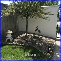 Outdoor Garden Statue Figurine Sculpture Yard Decor Art Ornament Bird Heron Rust