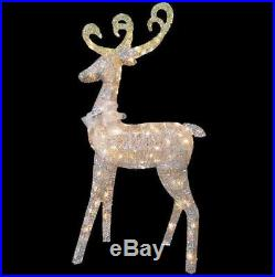 Outdoor Indoor Lawn Yard Home Decor Reindeer 60 in Christmas Lighted Clear Light