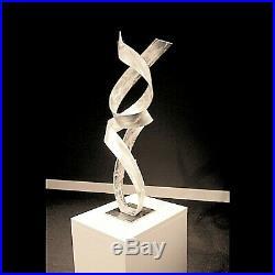 Outdoor Indoor Metal Lawn Yard Industrial Sculpture Silver Modern Contemporary