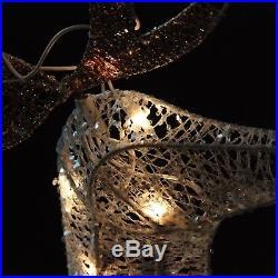 Outdoor Lighted Pre-lit Buck Deer Reindeer Christmas Yard Art Decor Xmas Light