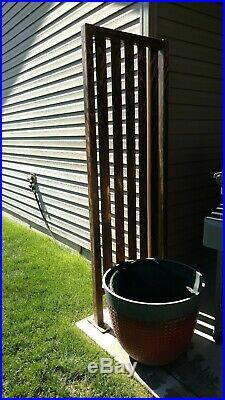 Outdoor sculpture Rustic metal art patio screen divider garden yard decor gate