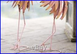 Pink Flamingos Garden Statues Yard Art Sculptures Patio Lawn Decor  Landscape 2PC
