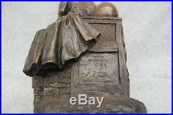 Rick Lewis 18th Century Apothecary Sculpture # 599/1000 Cast Metal Pharmacy Drug