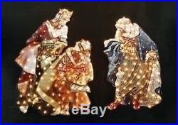 Roman 48H 3 Kings Yard Art 200 Lights Indoor Outdoor Kneeling Santa Fontanini