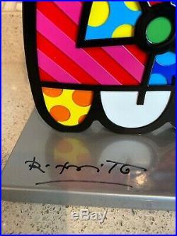 Romero Britto Signed Squeaki Metal Sculpture Signed & Numbered 687/1000