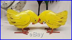 Rooster Hen Chicken Chick SET Family Recycled metal Mexican yard art Sculptures