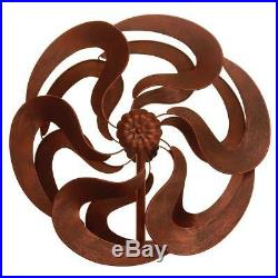 Rustic Country Style 75 Bronze Flower Windmill Stake Yard, Garden Sculpture