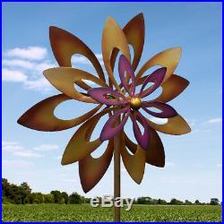Rustic Style Dancing Sunflower Garden Windmill Outdoor Spinner Yard Sculpture