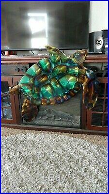 Sea turtle metal green plasma cut Garden and yard Art beach déco home decor art