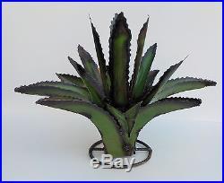 Set Of Three (3) Metal Yard Art Agave Cactus Sculpture 23 Diameter