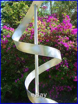 Statements2000 Abstract Metal Sculpture Garden Art Yard Silver Decor Jon Allen