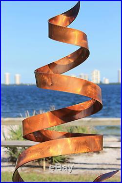 Statements2000 Abstract Modern Copper Freestanding Metal Yard Garden Sculpture