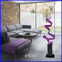 Statements2000 Large Metal Garden Sculpture Modern Purple Yard Decor Jon Allen