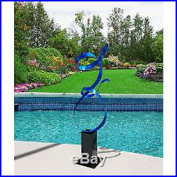 Statements2000 Large Metal Sculpture Modern Blue Garden Yard Art Decor Jon Allen