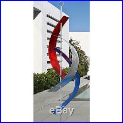 Statements2000 Metal Sculpture Large Abstract Red Blue Silver Yard Art Jon Allen