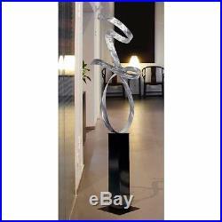 Statements2000 Metal Sculpture Large Abstract Silver Yard Art Decor by Jon Allen