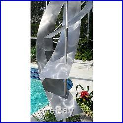 Statements2000 Metal Sculpture Large Silver Indoor Outdoor Yard Art by Jon Allen