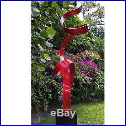 Statements2000 Metal Sculpture Modern Red Indoor Outdoor Yard Decor by Jon Allen