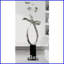 Statements2000 Metal Sculpture Modern Silver Indoor Outdoor Yard Art Jon Allen