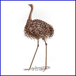 Tall Large Metal Ostrich Bird Standing Garden Decor Sculpture Yard Pond Patio