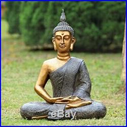 Thoughtfull Buddha Garden Sculpture outside yard decor garden statue BUDDHA