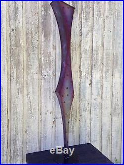 Vase Abstract Metal Art Sculpture Modern Yard Indoor/Outdoor Garden Holly Lentz