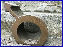 Vintage METAL SCULPTURE Modernism GENDER SYMBOL Steel Bronze FOLK ART Yard MCM