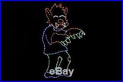 Werewolf Halloween LED light metal wire frame outdoor yard display decoration