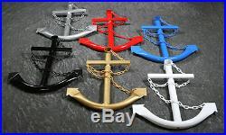 White Anchor Wall Yard Art Decor 2' Metal Outdoor Nautical Decorative USA New