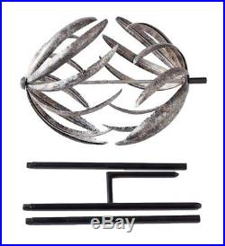 Wind Weather Banana Peel Metal Garden Wind Spinner Kinetic Yard Sculpture