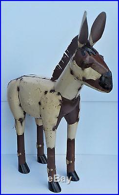 Yard Art Metal Donkey Sculpture 38 Tall X 30 Long Animal