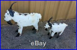 Yard Art Metal Goat Sculpture Goat Animal Decor Free Shipping